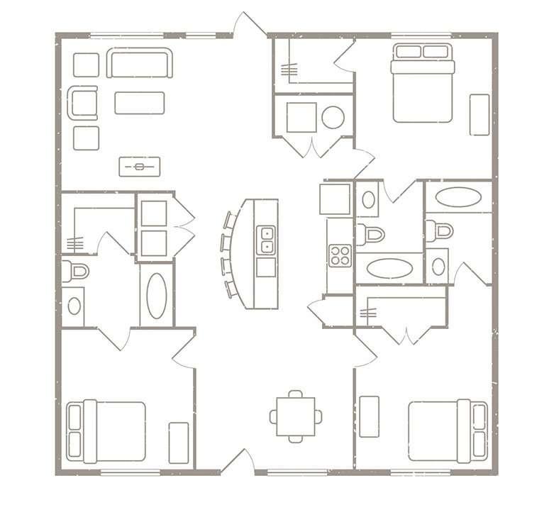 3 Bedroom 3 Bath Apartment Rates & Floorplans