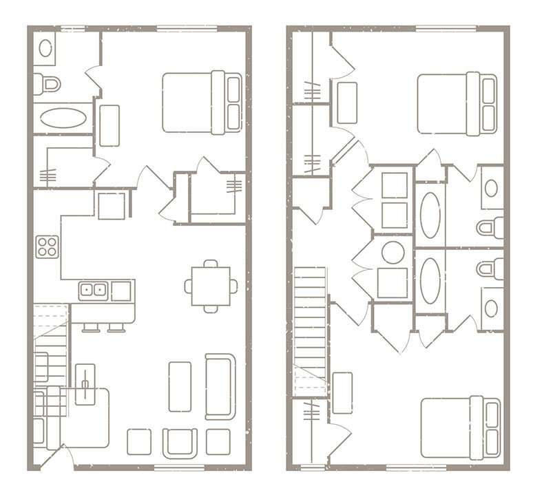 3 Bedroom 3 Bath Student Apartment Rates & Floorplans